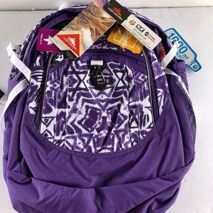High Sierra Backpack Purple Print
